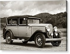 Vintage Automobile On Dirt Road Acrylic Print by Olivier Le Queinec
