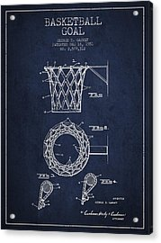 Vintage Basketball Goal Patent From 1951 Acrylic Print by Aged Pixel
