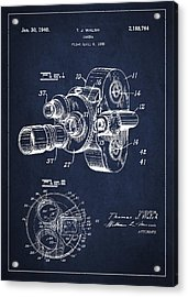 Vintage Camera Patent Drawing From 1938 Acrylic Print by Aged Pixel