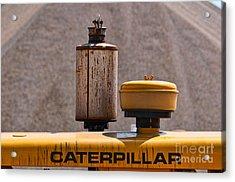 Vintage Caterpillar Machine Acrylic Print by Les Palenik