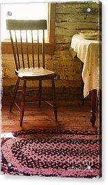 Vintage Chair And Table Acrylic Print by Jill Battaglia