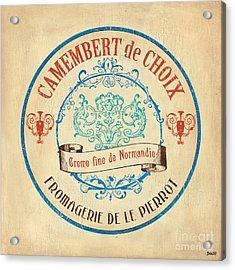 Vintage Cheese Label 4 Acrylic Print by Debbie DeWitt