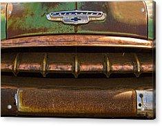 Vintage Chevy 2 Acrylic Print by Nancy  de Flon