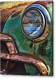 Vintage Chevy 3 Acrylic Print by Nancy  de Flon