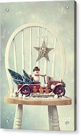 Vintage Christmas Truck Acrylic Print by Amanda And Christopher Elwell