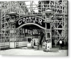 Vintage Coaster Acrylic Print by Benjamin Yeager