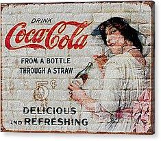 Vintage Coke Sign Acrylic Print by Jack Zulli