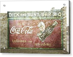 Vintage Cola Sign Mural II Acrylic Print by Ann Powell
