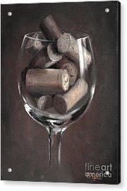 Vintage Corks Acrylic Print by Viktoria K Majestic