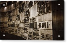 Vintage Country Music Hall Of Fame Wall Acrylic Print by Dan Sproul
