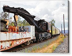 Vintage Crane Train 5d28378 Acrylic Print by Wingsdomain Art and Photography