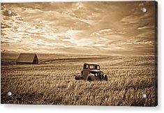 Vintage Days Gone By Acrylic Print by Steve McKinzie