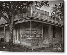 Vintage D'hanis Texas Business Acrylic Print by Priscilla Burgers