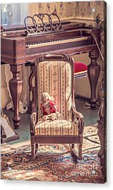 Vintage Doll In Parlor Acrylic Print by Edward Fielding