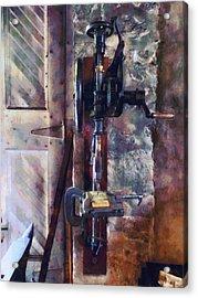 Vintage Drill Press Acrylic Print by Susan Savad