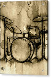 Vintage Drums Acrylic Print by Pete Maier