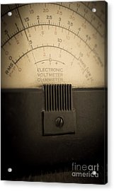 Vintage Electric Meter Acrylic Print by Edward Fielding