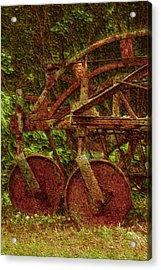 Vintage Farm Equipment Acrylic Print by Jack Zulli