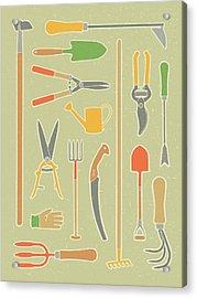 Vintage Garden Tools Acrylic Print by Mitch Frey