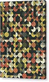 Vintage Geometric Circle Pie Vertical Pattern Acrylic Print by Frank Ramspott
