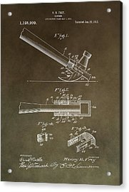 Vintage Hammer Patent Acrylic Print by Dan Sproul