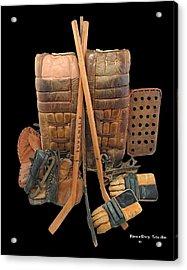 Vintage Hockey Equipment #2 Acrylic Print by Spencer Hall