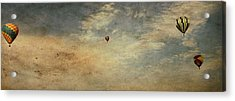 Vintage Hot Air Balloons Acrylic Print by Dan Sproul
