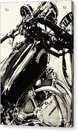 Vintage Hrd Vincent Series C Black Shadow Acrylic Print by Tim Gainey