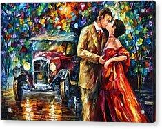 Vintage Kiss Acrylic Print by Leonid Afremov