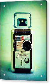 Vintage Kodak Brownie Movie Camera Acrylic Print by Jon Woodhams
