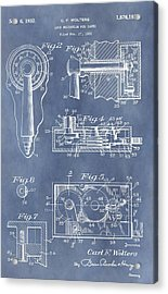 Vintage Lock Patent Acrylic Print by Dan Sproul