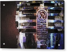 Vintage Microphone Painted Acrylic Print by Scott Norris