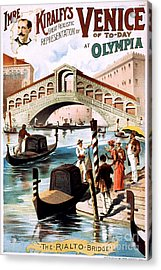 Vintage Nostalgic Poster - 8052 Acrylic Print by Wingsdomain Art and Photography