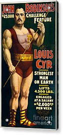 Vintage Nostalgic Poster 8061 Acrylic Print by Wingsdomain Art and Photography