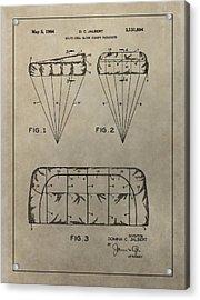 Vintage Parachute Patent Acrylic Print by Dan Sproul