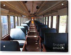 Vintage Passenger Train 5d28306 Acrylic Print by Wingsdomain Art and Photography