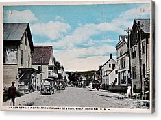 Vintage Postcard Of Wolfeboro New Hampshire Acrylic Print by Valerie Garner
