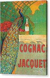Vintage Poster Advertising Cognac Acrylic Print by Camille Bouchet