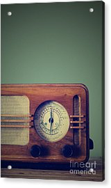 Vintage Radio Acrylic Print by Jelena Jovanovic