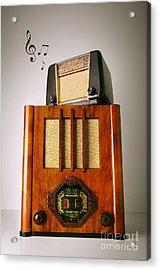 Vintage Radios Acrylic Print by Carlos Caetano