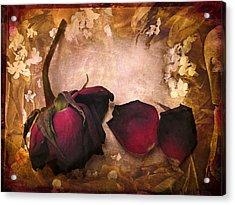 Vintage Rose Petals Acrylic Print by Jessica Jenney