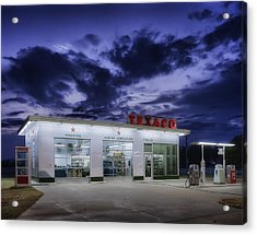 Vintage Service Station In Arkansas Acrylic Print by Mountain Dreams