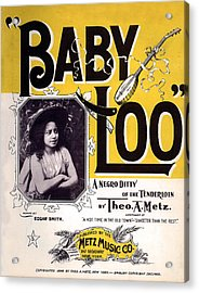 Vintage Sheet Music Cover  Circa 1898 Acrylic Print by Theo A Metz