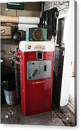 Vintage Soda Machine Acrylic Print by John Rizzuto