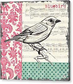 Vintage Songbird 1 Acrylic Print by Debbie DeWitt