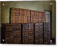 Vintage Storage Acrylic Print by Susan Candelario