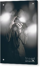 Vintage Style Photo Journalist Shooting A Premiere Acrylic Print by Jorgo Photography - Wall Art Gallery