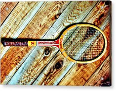 Vintage Tennis Acrylic Print by Benjamin Yeager