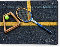 Vintage Tennis Acrylic Print by Paul Ward