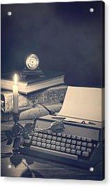 Vintage Typewriter Acrylic Print by Amanda Elwell